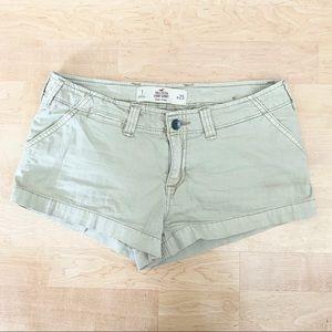 HOLLISTER • Size 1 Khaki Shorts✨